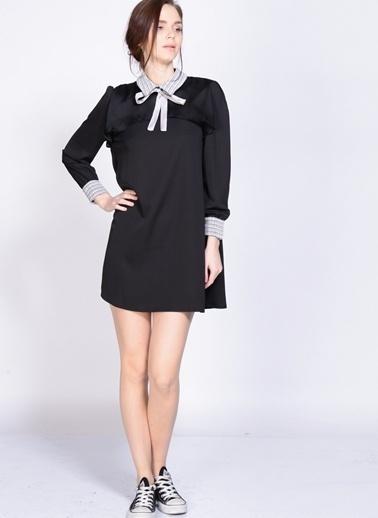 Sister Jane Uzun Kollu Mini Elbise Siyah